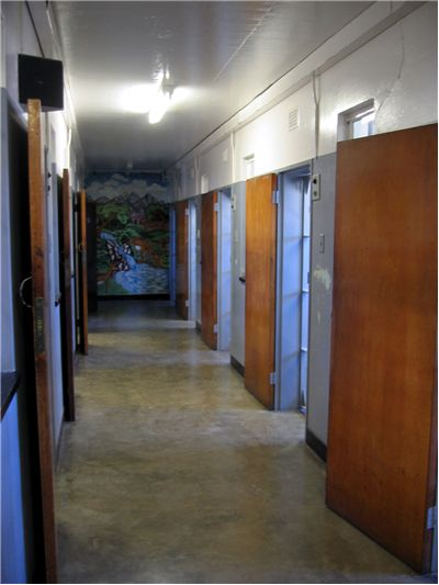 Picture Of Former Prison Cells On Robben Island