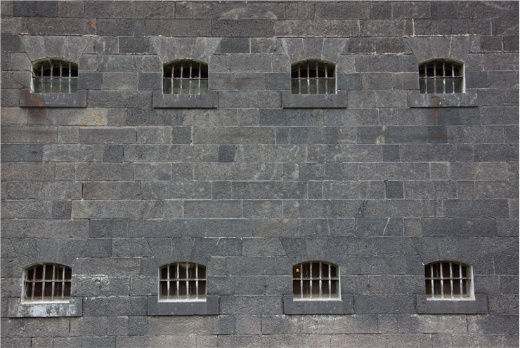 Picture Of Windows Of Prison Cells Of Melbourne Goal Australia